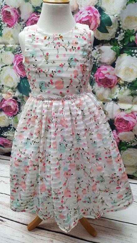 Girls Pretty Floral Occasion Party Dress